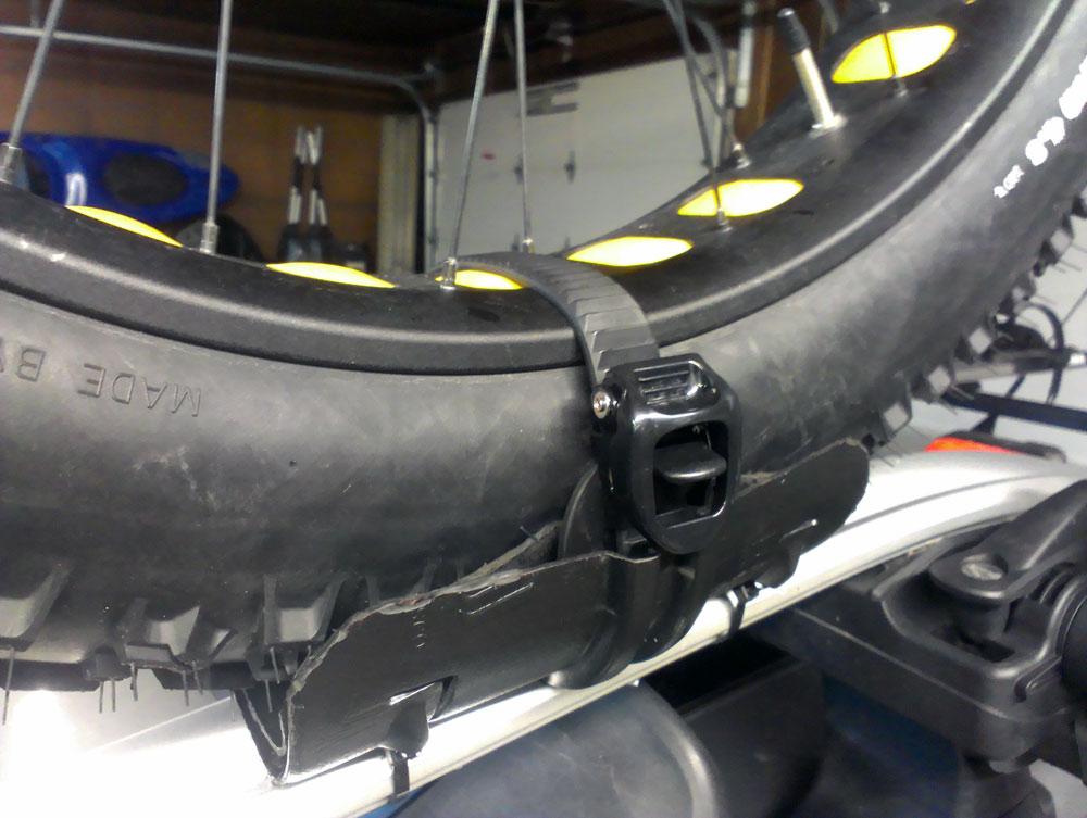 How to make a bike wheel holder
