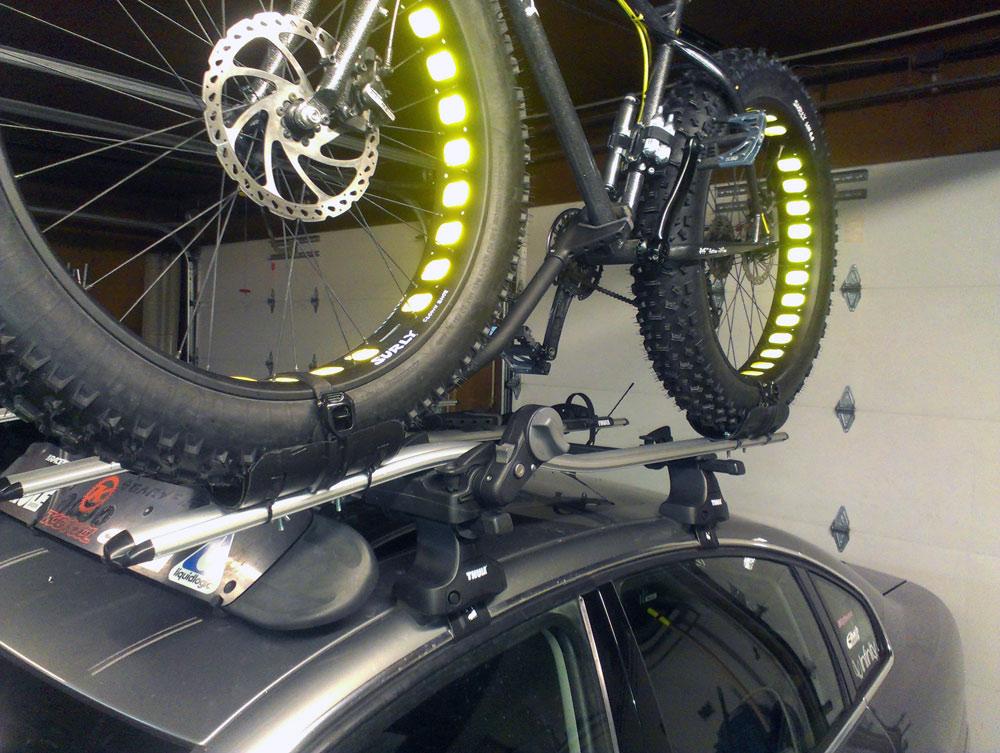 Thule ProRide Roof Bike Rack for Fat Bikes - Frame Mount ...  |Fat Bike Roof Rack Thule