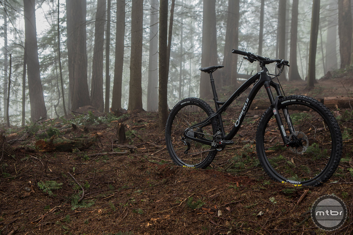 The Canfield EPO is a carbon 29er that is slack and low with a short chainstay for nimble handling and fun.