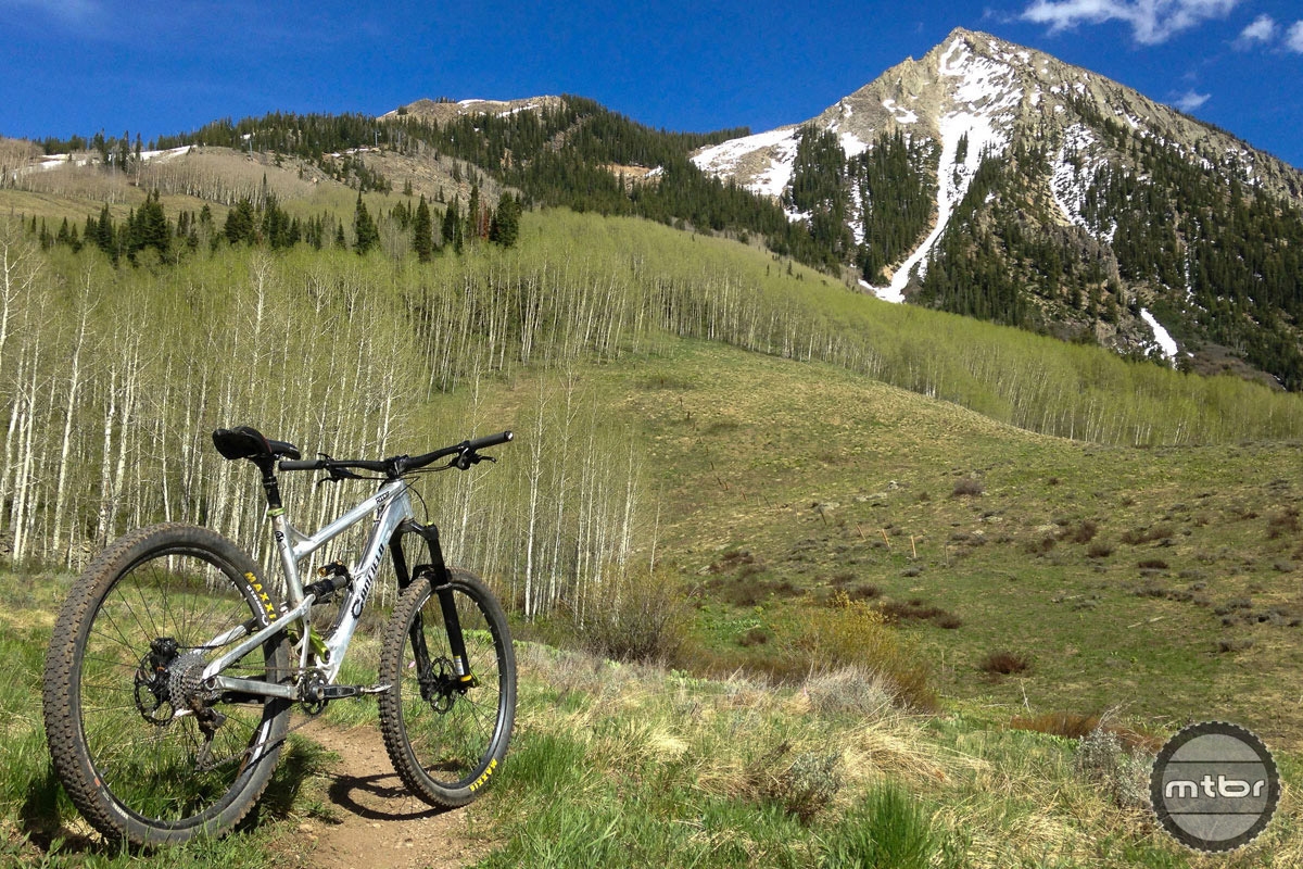 Among our favorite places to ride, in the shadow of Mount Crested Butte.