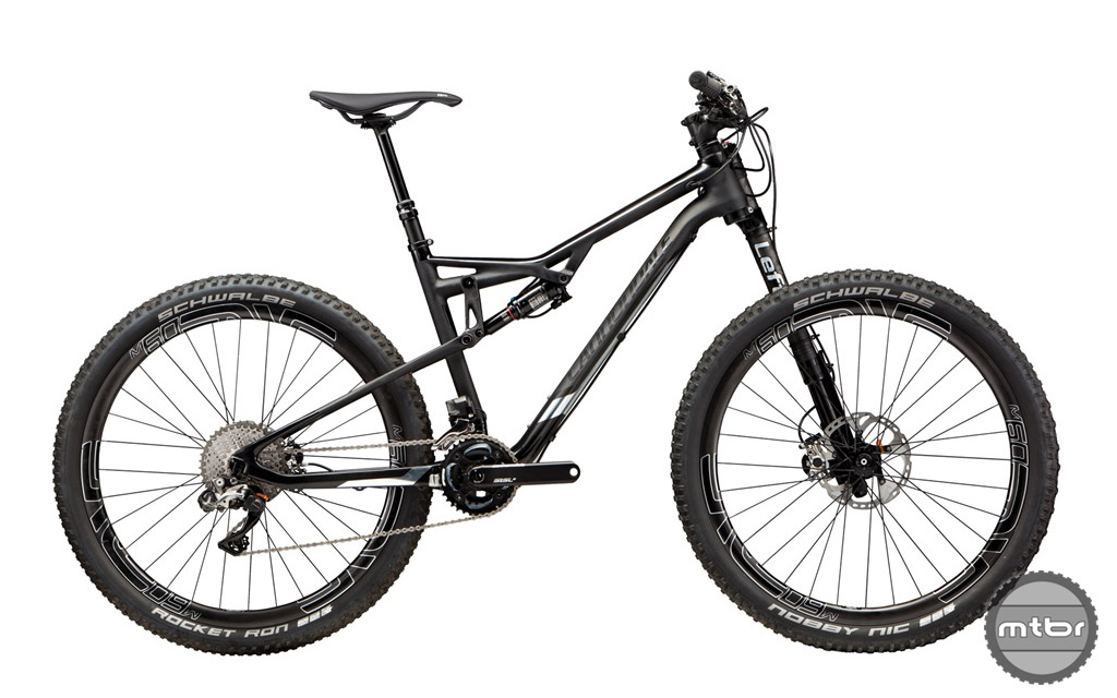 The all black treatment is a sign of Cannondale's ultra-premium spec Black Inc. series.