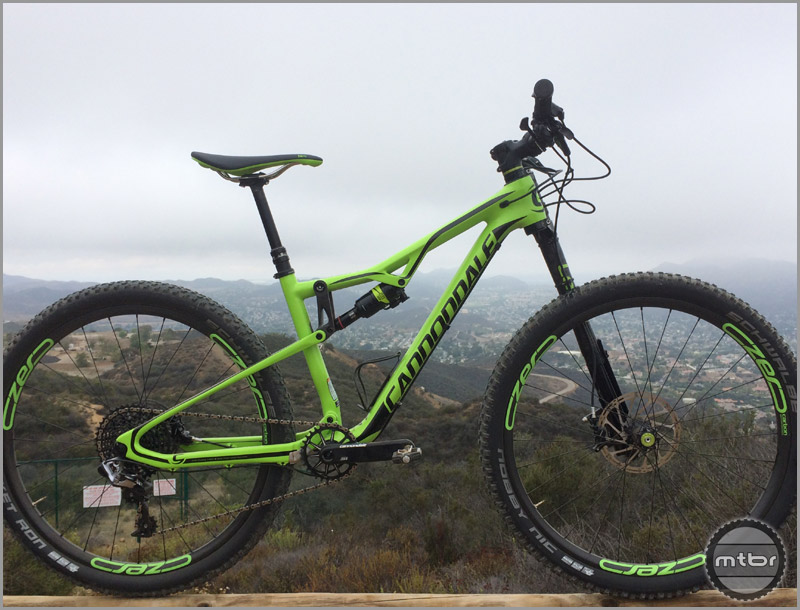 "The all new Cannondale Habit has 120mm of aggressive XC travel and rolls on 27.5"" wheels."