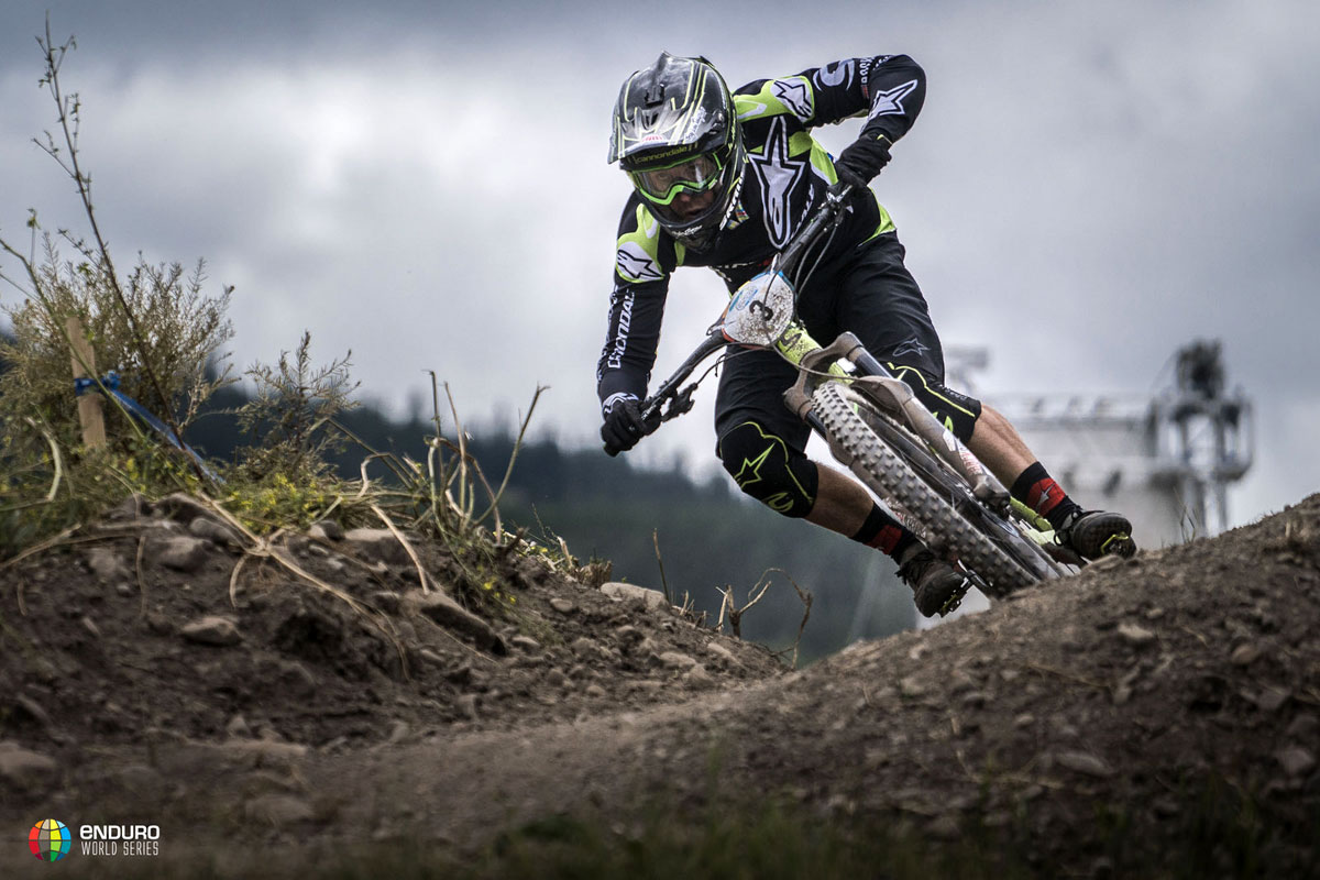 Clementz barrels his way toward an EWS podium — third place in the overall rankings with three races to go. Photo courtesy Enduro World Series
