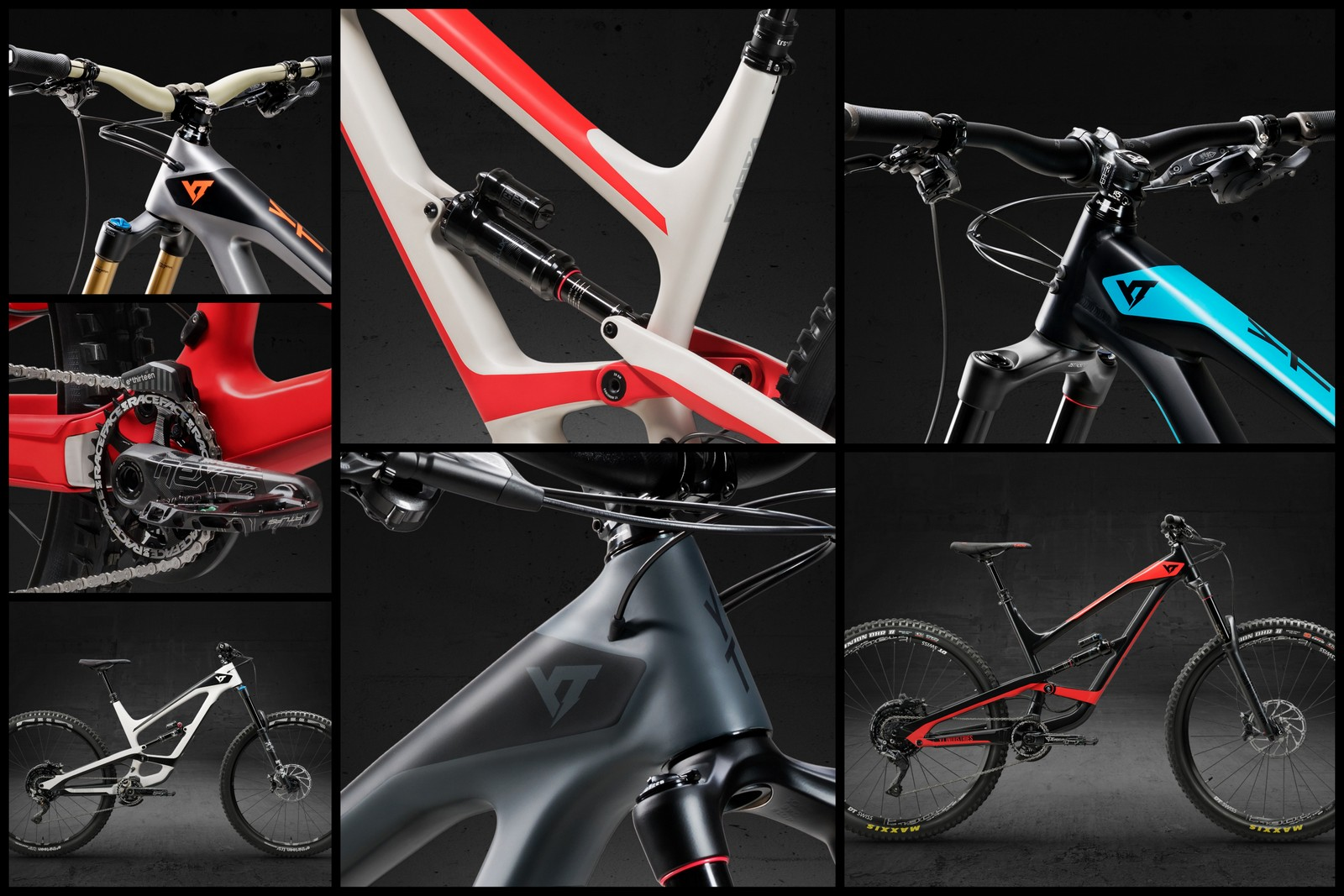 The Capra is an enigma, available in two wheel sizes and seven color schemes.