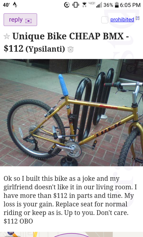 Post your CraigsList WTF's!?! here - Page 18- Mtbr com