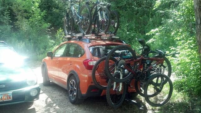 CRV vs. Outback Vs. Crosstrek-car-lots-bikes.jpg