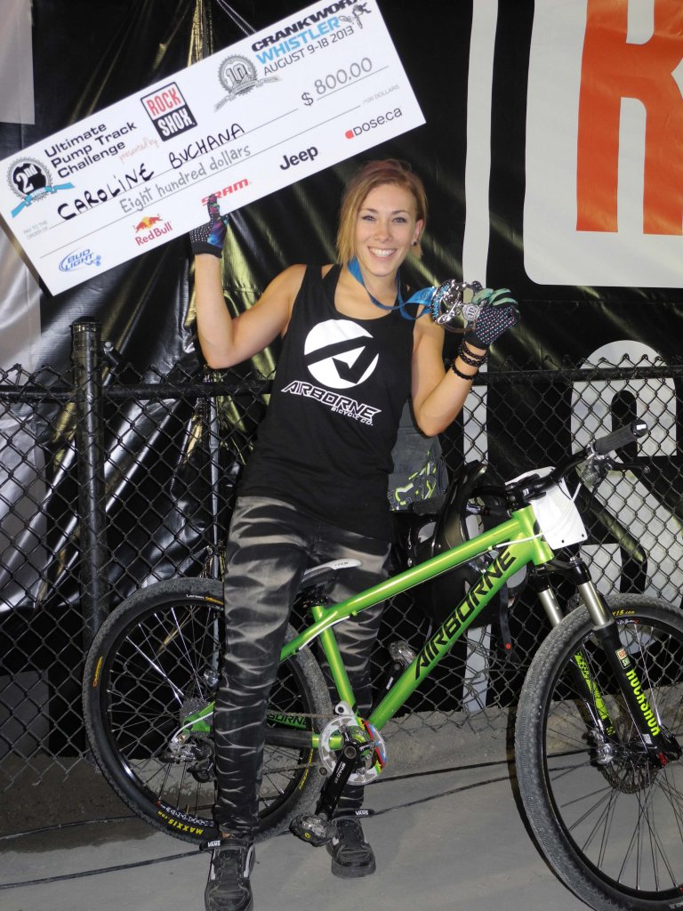 Airborne's Caroline Buchanan takes 2nd at Crankworx Ultimate Pump Track Challenge!-caroline-bike-small.jpg