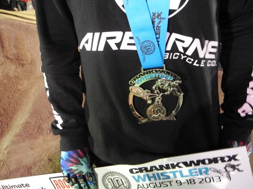 Airborne's Caroline Buchanan takes 2nd at Crankworx Ultimate Pump Track Challenge!-caroline-medal-small.jpg