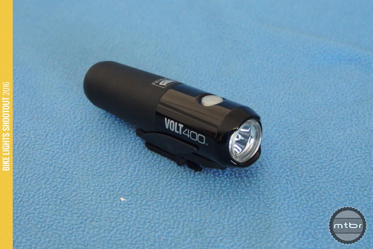 The CatEye Volt 400 serves as a good flashlight.