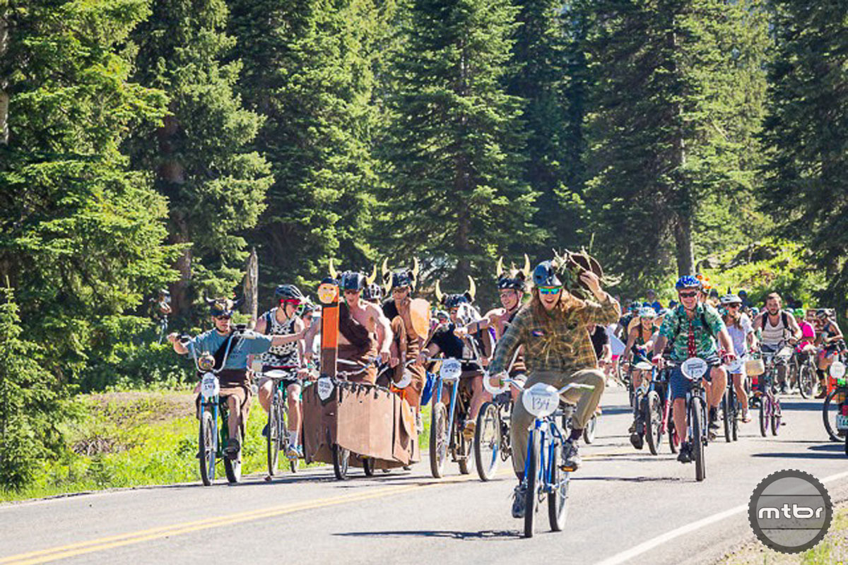 The world famous Chainless Downhill Race: Part competition, part costume party, all time fun. Photo courtesy CB Chamber of Commerce/Lydia Stern