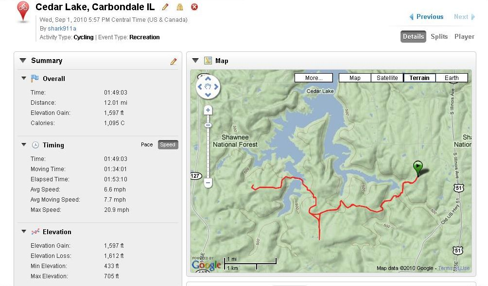 First ride with Garmin Edge 605-cedar_lake.jpg