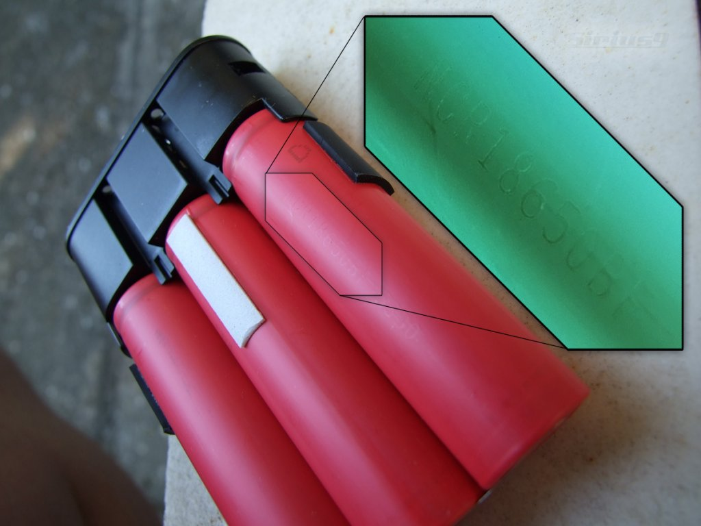 Review: 4 (2S2P) and 6 cell (2S3P) hardshell waterproof bicycle battery packs from GB-cells.jpg