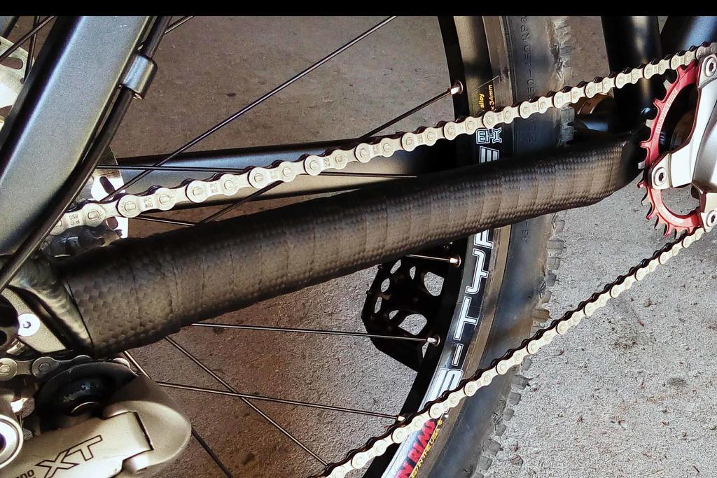 "New 26"" bike built-chainstay-guard.jpg"