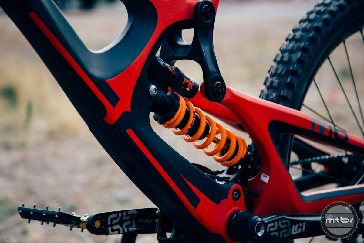 """The removable G3 dropouts utilized by Intense in the past allowed riders to easily swap between different wheel sizes and axle standards. As wheel sizes and axle standards have reached an equilibrium in the DH realm, Intense has settled on 27.5"""" wheels and a 157mm rear end."""