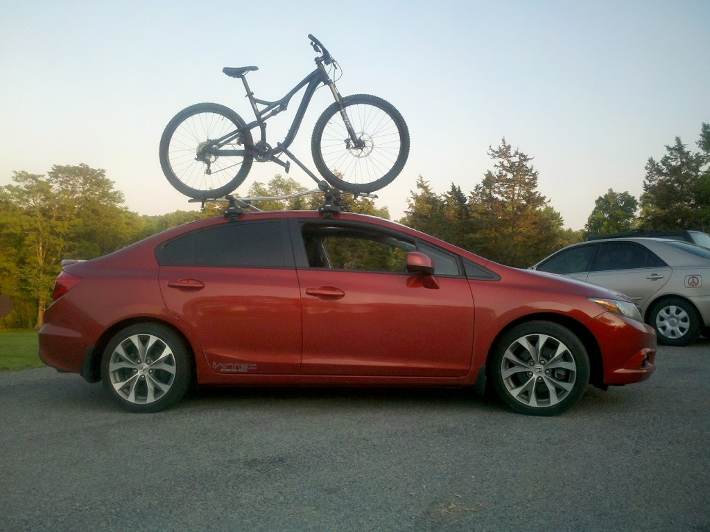 how to carry bikes in honda civic