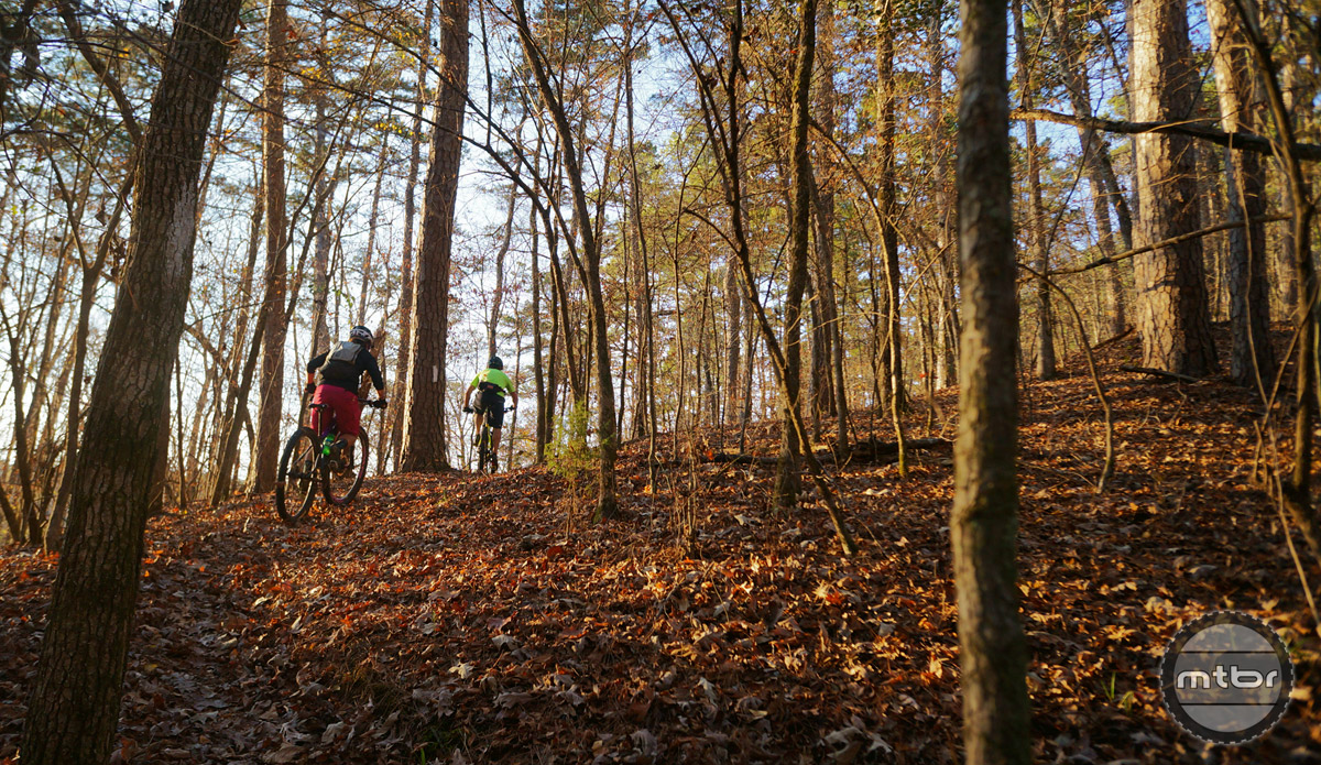 Arkansas may not be known for massive mountains, but the trails in the Ouachita mountains are filled with plenty of undulation. On average, you can expect about 1000' of climbing for every 10 miles of singletrack.