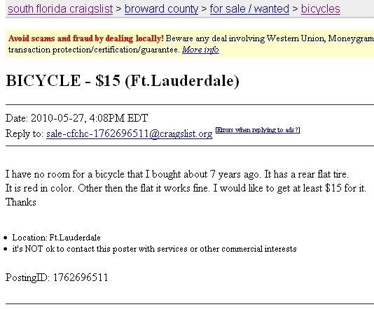 Post your CraigsList WTF's!?! here-clwtfflattirebike.jpg