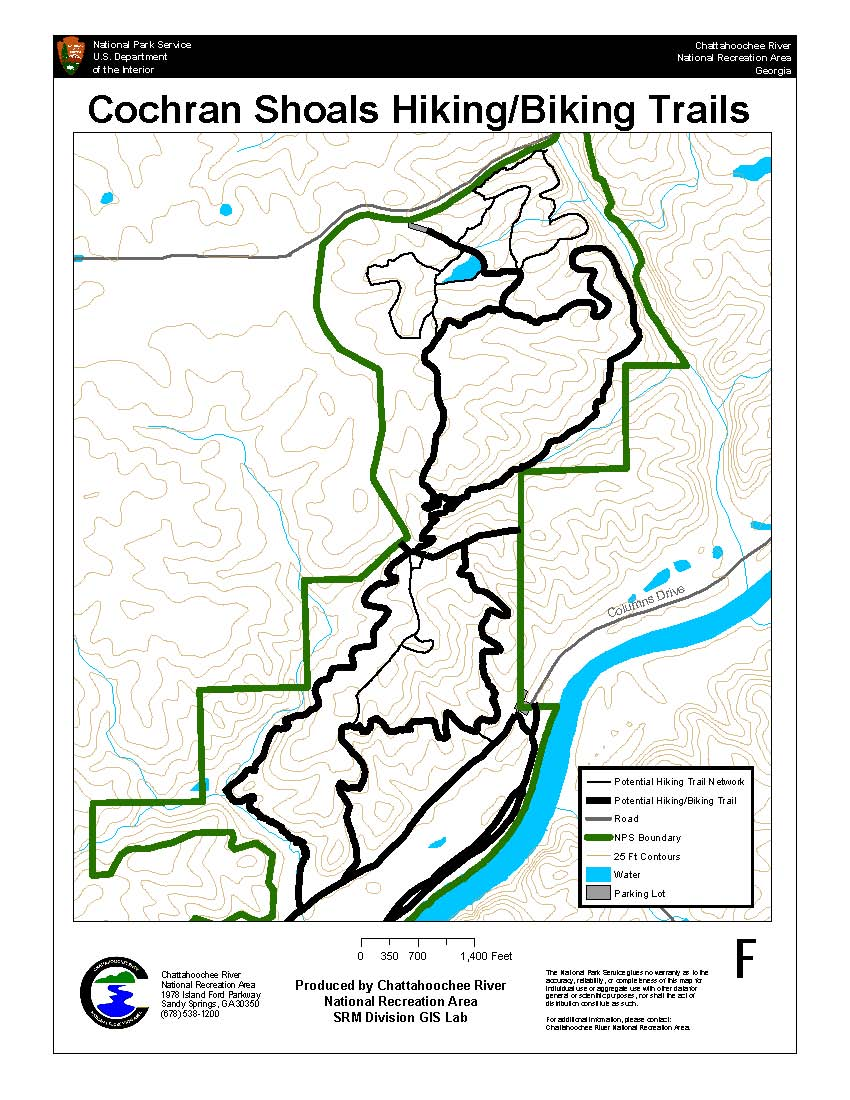 New trails at sope creek in 2010 for Cochran shoals