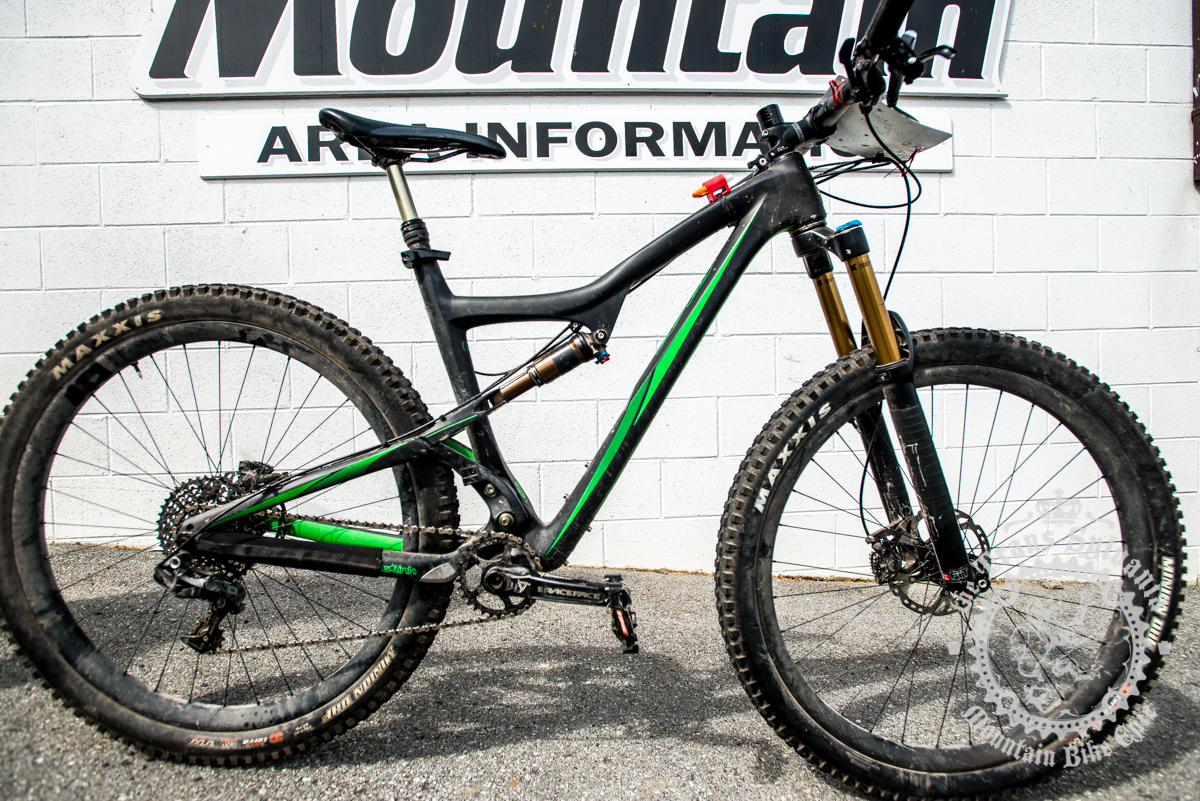 Cody Phillips is riding an Ibis Ripley demo bike all week, for both the cross country and enduro stages. Photo by Harris Dunlap and A.E. Landes of the Trans-Sylvania Epic Media Team