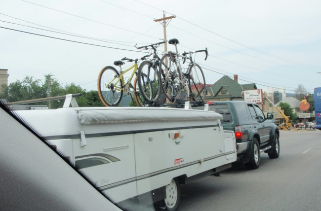 Rack Solution For Pickup And Tent Camper? Coleman W Bikes
