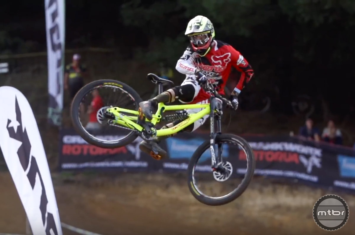 Connor Fearon has been racking up podium finishes on the world cup DH circuit and is poised to take a win.