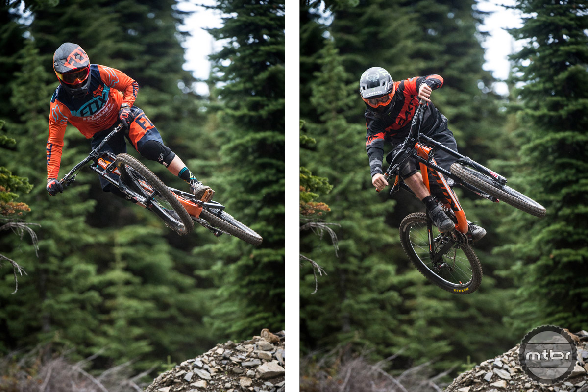 Connor is a force on the World Cup DH scene, while Aggy has made a name for himself at events like Rampage.