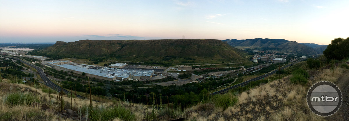 A view of the sprawling facilities taken from one of the nearby mountain bike trails.