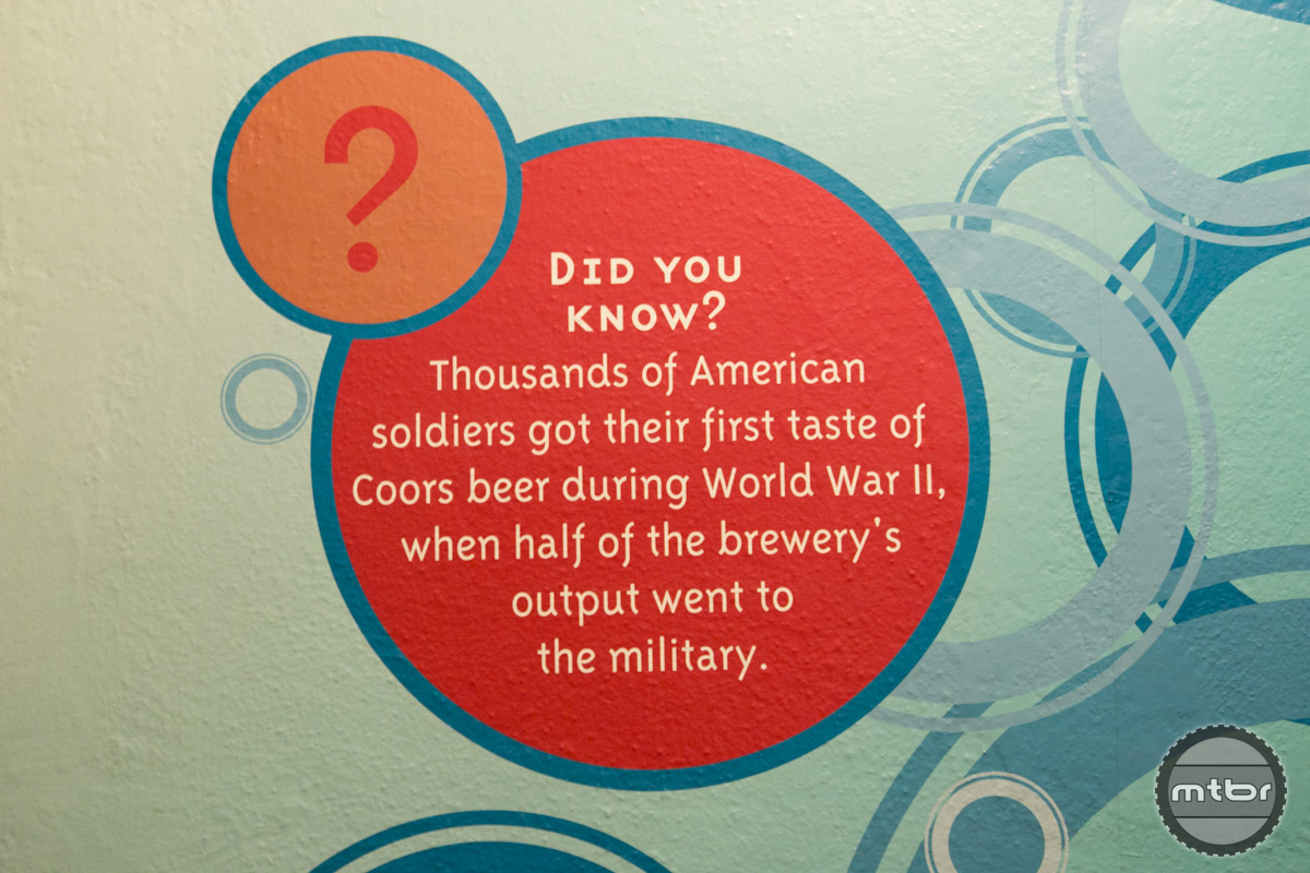 During WWII, half of the brewery's output went to the military.