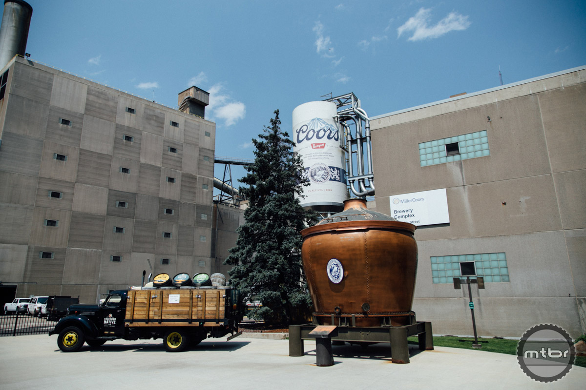 The Coors Brewery is located forty five minutes outside of Denver in the same town as Yeti Bicycles.