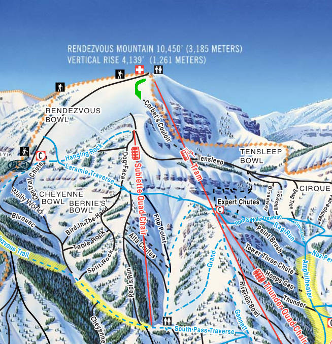 Corbet's is at the very top of Jackson Hole Ski Resort