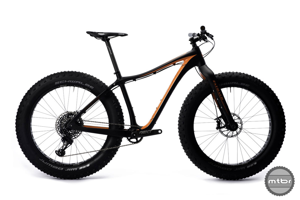 """Fatback has added its first XS (14"""") carbon fat bike as well as a 22"""" for the larger riders."""