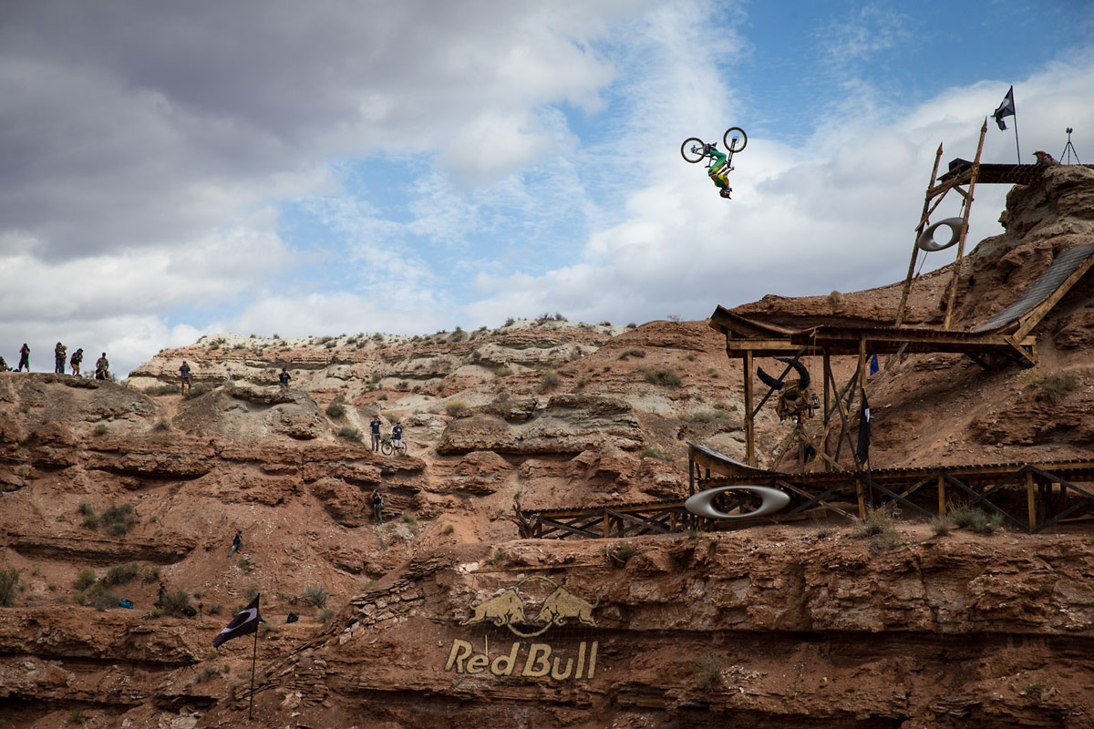 "Cam Zink's ""Best Trick"" Backflip Off the Sender - 2013 Red Bull Rampage"