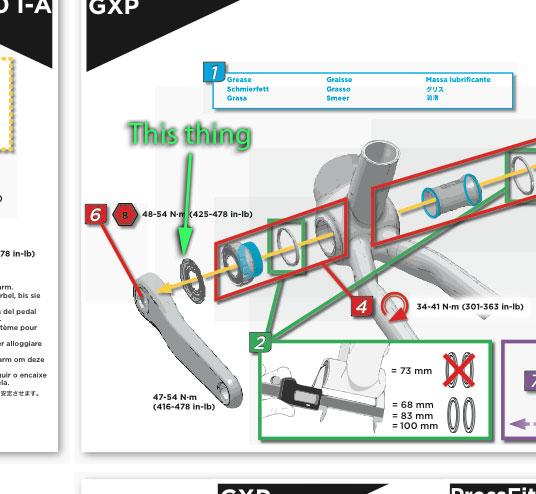 SRAM GXP Threaded TruVativ Bottom Bracket