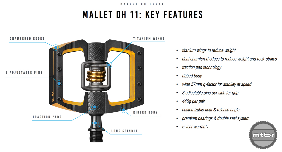 Crankbrothers Mallet DH 11 Key Features