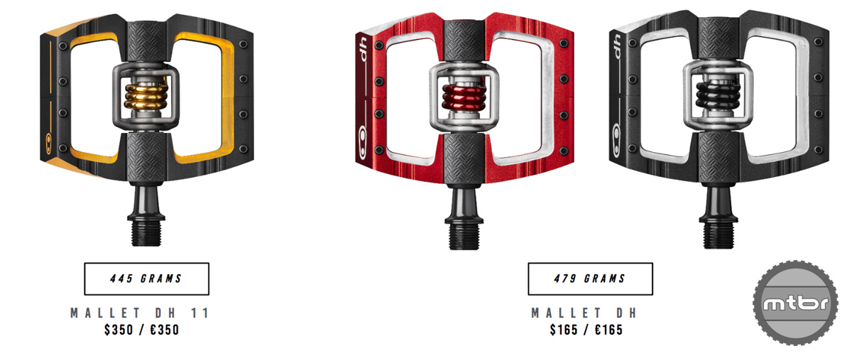 Crankbrothers Mallet DH Prices and Weight