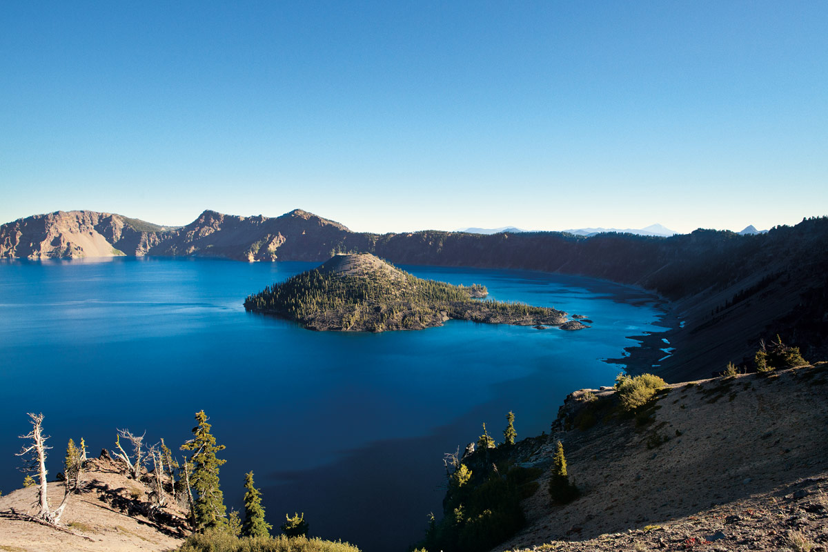 The lake is the deepest (and some would argue, bluest) in the United States.