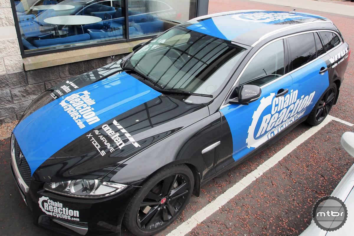 Our HQ tour team car, this swanky Jaguar.