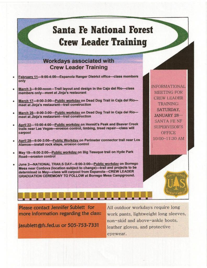 Crew Leader Training for Trail Work SFNF-crew-leader-training-2012-sfnf.jpg