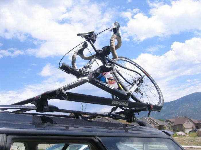 How to NOT drive into your garage with bikes on the roof?-crumpled-bike.jpg