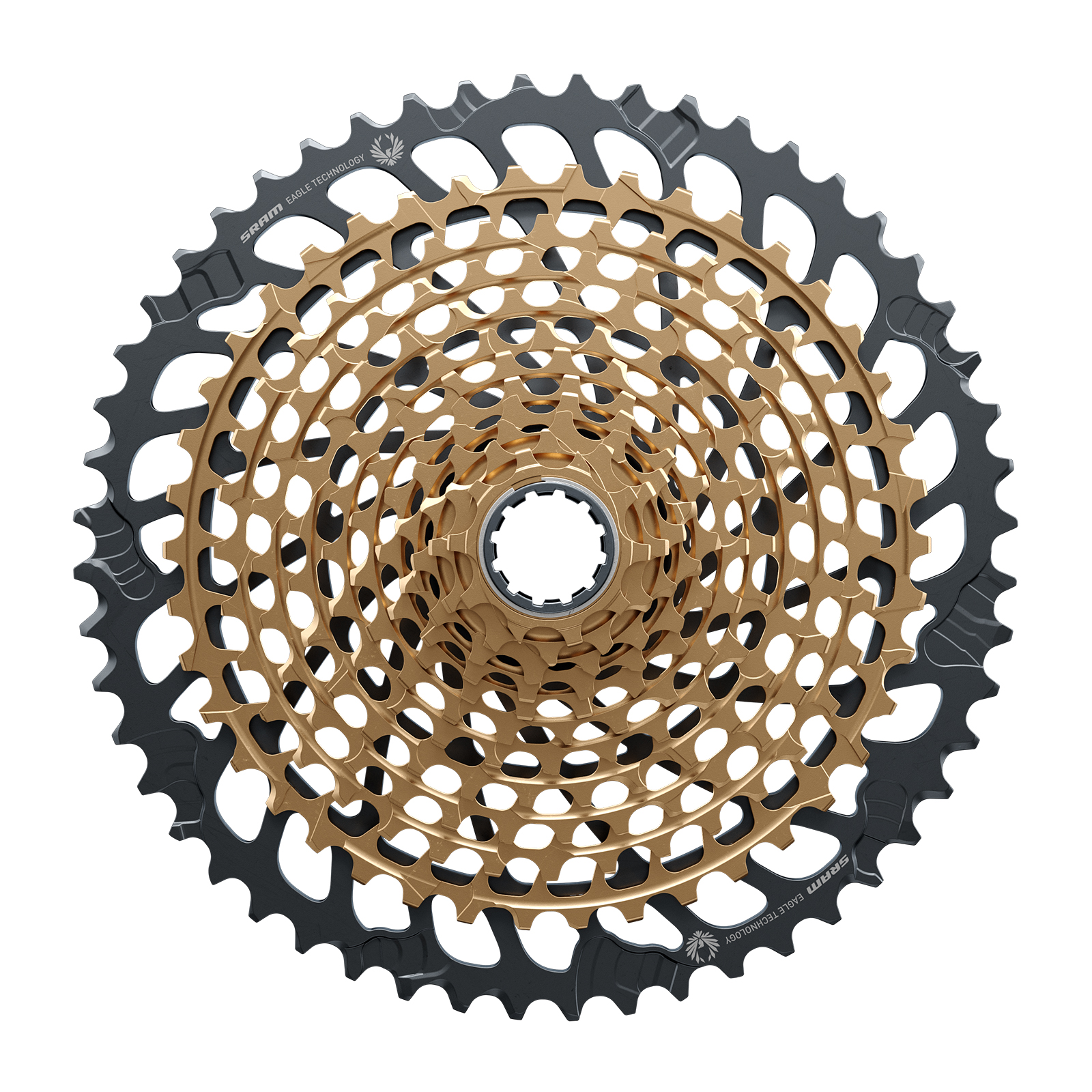 The only change to the Eagle Expanded Range cassette is the addition of the 52-tooth cog. The remaining 11 cogs have the same steps between gears as the 10-50T cassettes.