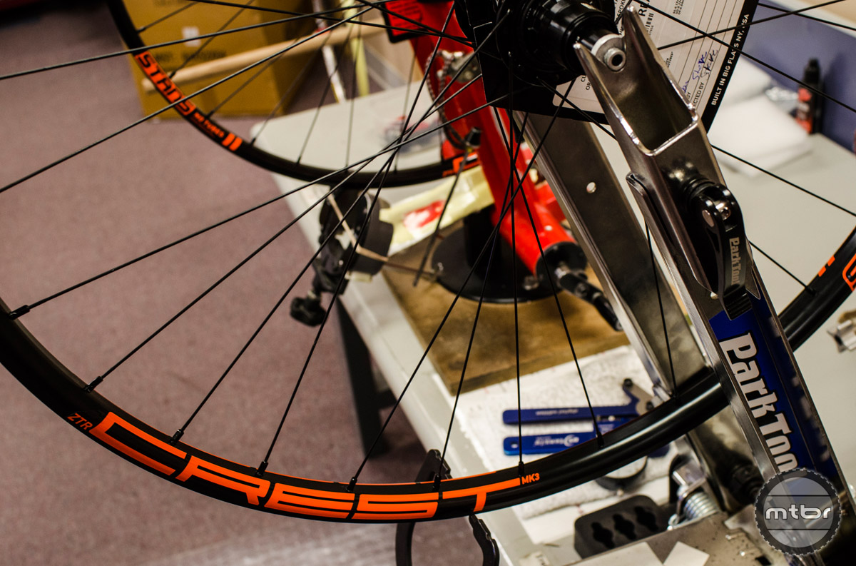 Thus far, Crest wheels have proved the most popular choice in Stan's NoTubes custom wheelset builder program. Photo courtesy Stan's NoTubes