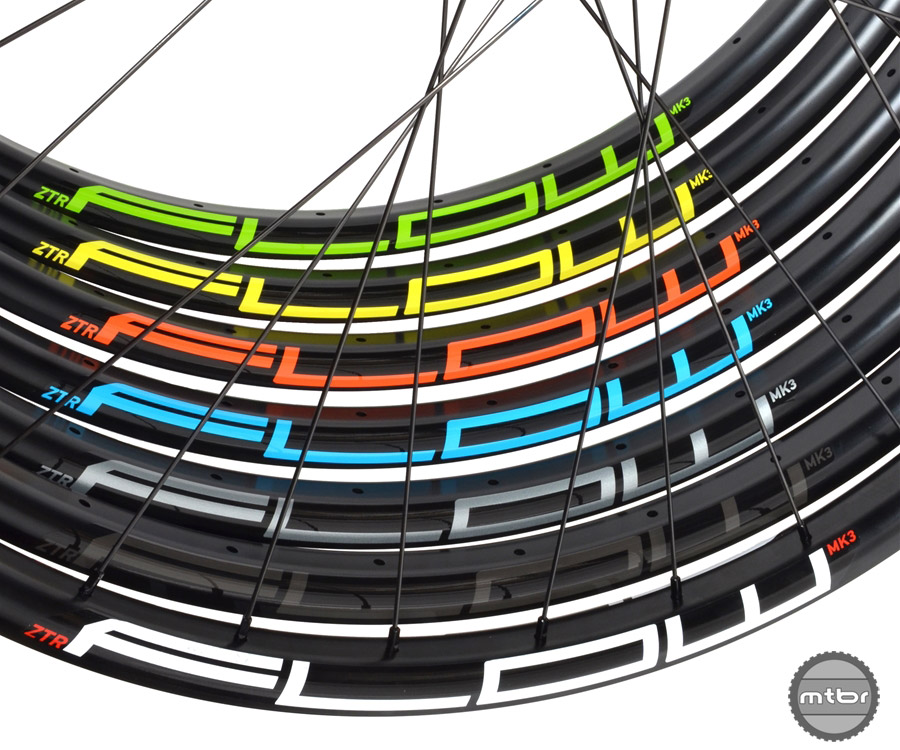 Riders can choose their decal color when buying Stan's NoTubes new custom wheels. Photo courtesy Stan's NoTubes