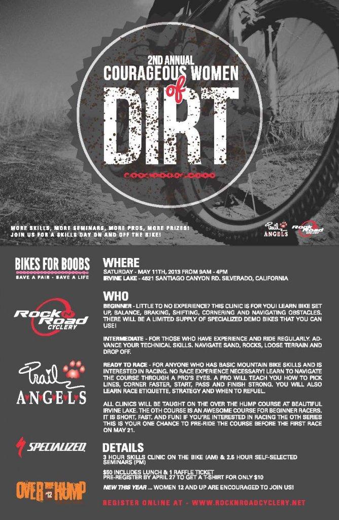 Courageous Women of Dirt Clinic - Orange County California-cwod-poster-2013.jpg