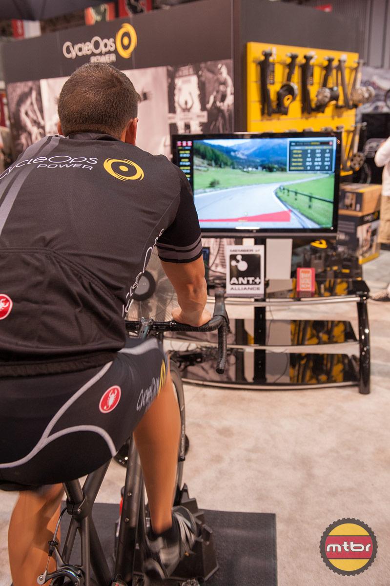 Cycleops Interbike Booth Mountain Bike Review Mtbr Com