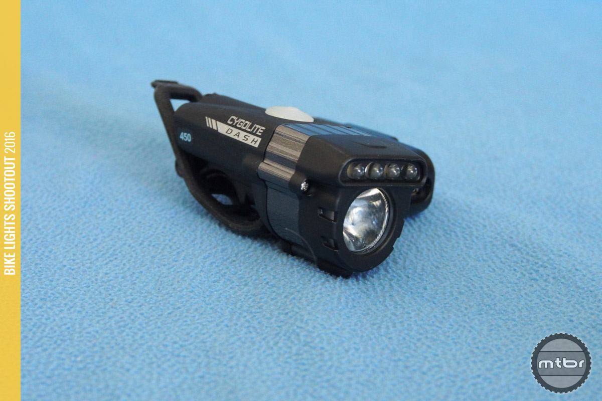 Cygolite Dash 450 adds four traditional LEDs  but they would be more useful if visible from the side.