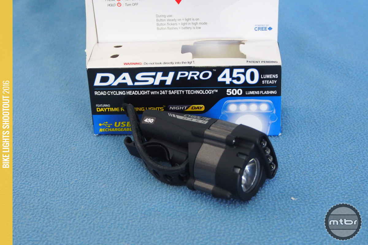 The Cygolite Dash 450 packaging allows one to test it.