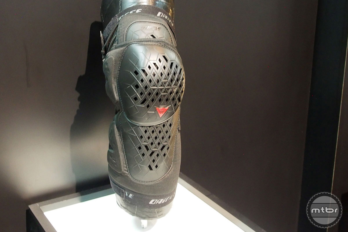 The Dainese Armoform Knee Guards use the same thermoplastic polyethylene shell, but in a much denser pattern to deal with harder impacts.