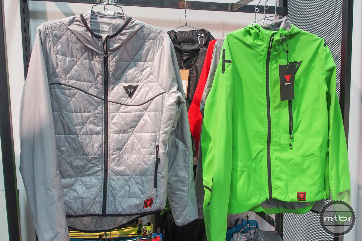 Dainese also has a collection of soft goods, including an array of foul weather wear.