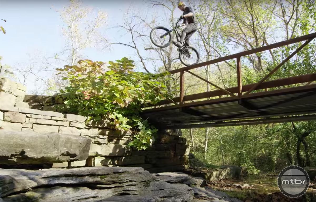 This picturesque bridge looks like a good place for a wheelie drop.