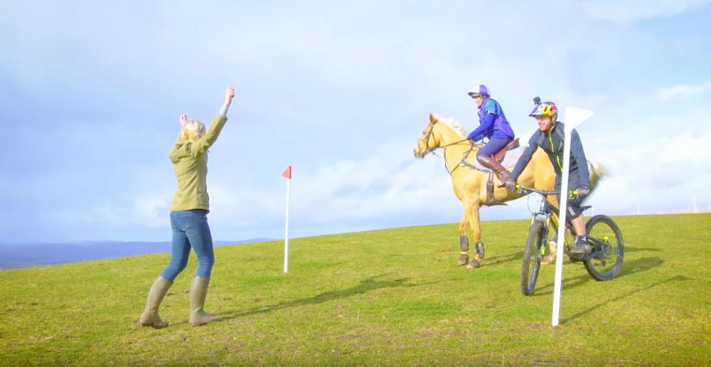 Danny MacAskill races a horse